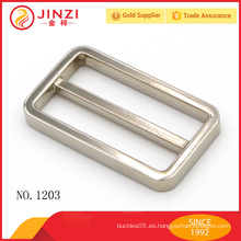 Accesorios de moda bolsos de aleación de zinc cuadrado hebilla de cinturón
