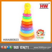 Crianças Primavera Brinquedos Multi Color Playful Pingüim Anel Rainbow Brinquedos
