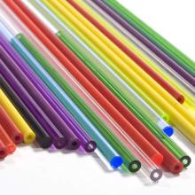Le tuyau en plastique dur coloré adapté aux besoins du client de tuyau en plastique de PVC a drainé le tube en plastique rigide de 2mm