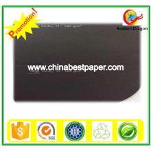 Papel de cartão preto sem revestimento 210g