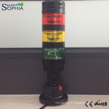 Lumière d'avertissement de machine de lumière de tour de signal de LED avec le buzzer