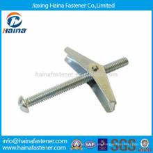 Proveedor de China tornillos de palanca de muelle de zinc galvanizado / ancla de pared