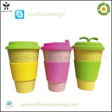 2014 новая кофейная кружка из экологически чистого бамбукового волокна