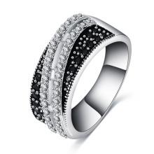 Women Black Zircon Wedding Ring CRI0503