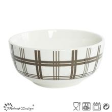 Porcelaine blanche de 5,5 po avec bol de riz décoratif