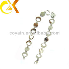 Wholesale stainless steel jewelry silver women's interlocking rings necklaces