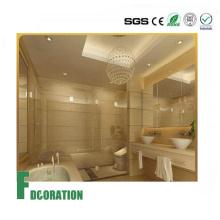 Painéis de parede laváveis do PVC da folha de mármore UV composta interna do uso das telhas para a decoração home