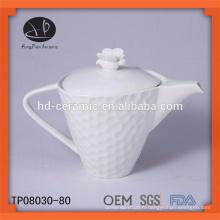 Nouveau produit pour théière en céramique 2015, théière en porcelaine blanche