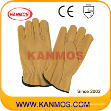 Industrial Safety Cow Grain Leather Driver Work Gloves (12201)