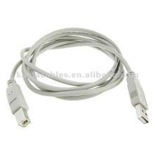 Cordon de câble d'imprimante gris gris USB de 1,8 M pour PC