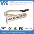 4 порта USB2.0 для USB3.0 Кабельный брекет 20-контактный USB-концентратор