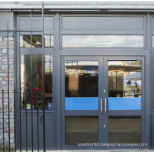 Customised size EN1634 1 2 3 hours steel  fire rated fire proof glass doors for shop