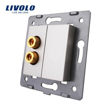 Livolo Gray Plastic Materials EU standard Function Key For 1 Gang Sound Electrical Socket C7-91A-15