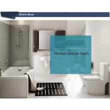 Acrílico P baño de esquina esquinero bañera con escalones para jabón