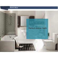 Acrylic P sharp corner bath shower bathtub with steps for Soap