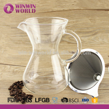 Manual 2 Cup Coffee Dripper With Borosilicate Glass 650ml Carafe Matched Black Color Sleeve