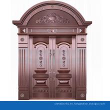 Puerta de forja doble superior arco puerta exterior de casa