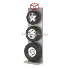 Quality Assured Iron Sheet Car Accessories Stand 3-Tier Custom Tyre Commercial Retail Tyre Display Rack