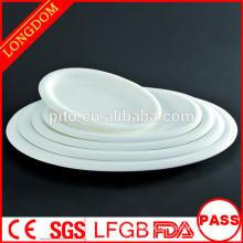P & T porcelana fábrica durável restaurante hotel pratos porcelana pratos oval