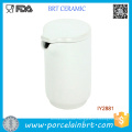 Unique Matte White Ceramic Hot & Cold Water Pitcher with Lid