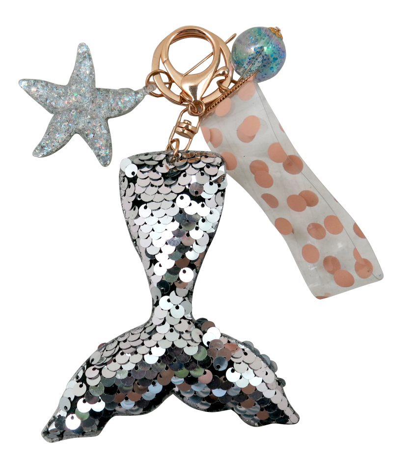 Mermaid Tail Sequin Key Chain 1