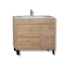 Free Standing MDF Bathroom Cabinet with Ceramic Basin