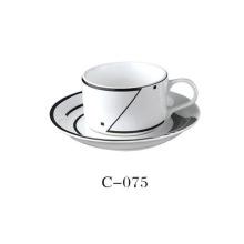 Keramik Kaffeetasse mit Abziehbild