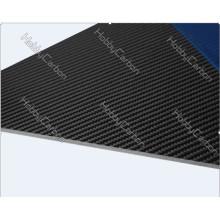 CNC-Schneiden Carbonplatten 1,5 * 400 * 500mm glänzend / Twill Glas Kohlefaser-Mesh / Blatt