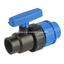 Válvula de esfera de cor azul escuro PP para irrigação