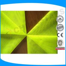 NFPA 701 (2004) Retardante de chama Tecido fluorescente de alta visibilidade que satisfaz ANSI / ISEA