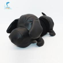 Peluches en peluche mignon chien noir grosse tête