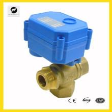"""Válvula de control de solenoide eléctrico de latón de 3 vías Válvula para agua fría Control de bajo voltaje de 1/4 """"1/2"""" 3/4 """"1"""""""