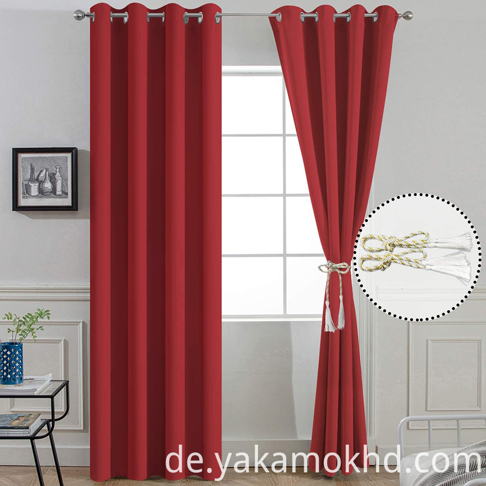 96 Inch Red Curtains