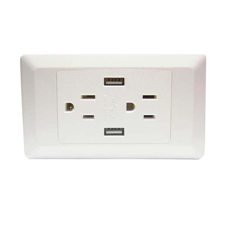 US double wall socket
