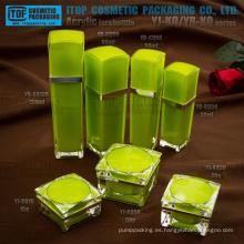 Interesante clase alta doble capas terminante de la calidad inspección tan costo efectivo lujo acrílico cosméticos envase de plástico