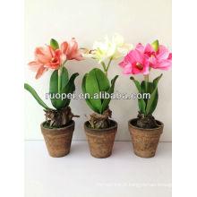 Arbre de fleurs artificielles Nouveau produit 40cm de haut Arbre de fleurs trois couleurs