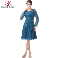 Grace Karin Two-pieces Set Lace & Chiffon Mother of the bride dresses CL6235