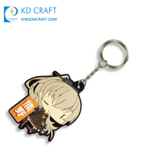 Free samples custom make your own silicone soft pvc japanese anime keychain for advertising