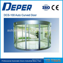 Puerta corrediza de vidrio curvada de aluminio