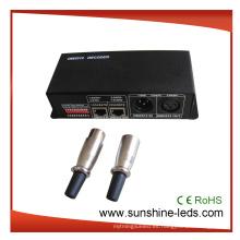 24/4/3 canales programables DMX 512 LED controlador, decodificador para RGB LED tira