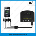 Перезаряжаемые солнечной энергии система освещения с 2 лампы и мобильный телефон зарядное устройство для крытого или напольного
