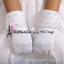 Günstige Handschuhe für Blumen Mädchen Kinder Satin Handschuhe für Hochzeit Gelegenheit