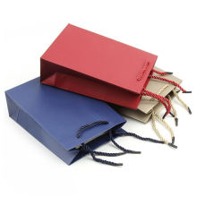 Factory OEM Wholesale Customized Printed Logo Jewelry Packaging Kraft Gift Shopping Paper Bag With Rope Handles