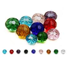 Grânulos de vidro de cristal redondos coloridos baratos para DIY