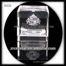 K9 3D subsuperfície de laser arquitetura dentro cubo de cristal
