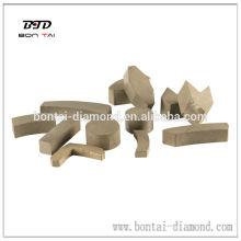 Segmento de diamante para disco de moagem, tijolo de moagem e roda de copo