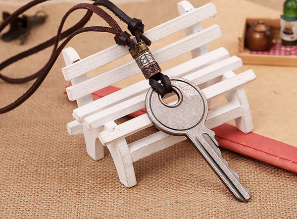 Key Chaped Mens Charms For Necklaces