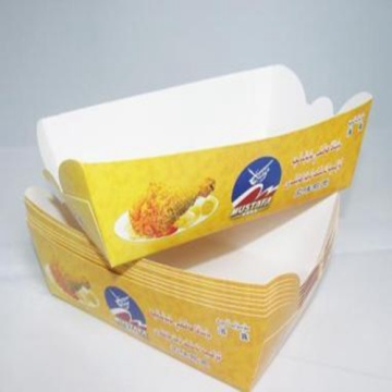 Fries chip de papel copos takeaway recipiente de fast food