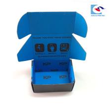 Laminación mate personalizada pequeñas cajas de papel de envío corrugado lindo