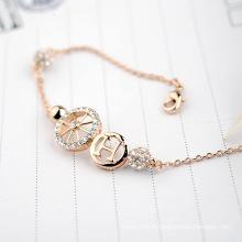 Vente en gros Chine Bracelet Bijoux pure diamant lettre h et roue bracelet en cristal bijoux accessoires
